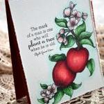 Hand-coloured Apple Greeti..